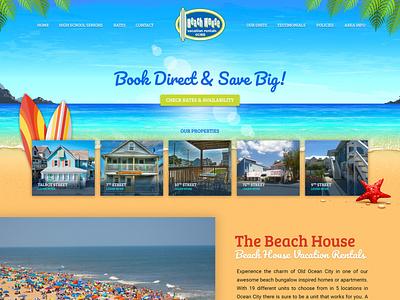 Beach House Vacation Rental - Wordpress graphic design website icon typography ux ui listing vacation rental vector wordpress webdesign