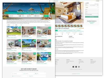 Affinity Vacation Rental ux wordpress webdesign vector vacation rental listing