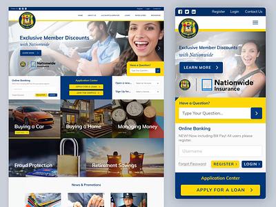 Insurance & Loan Company Website - Desktop & Mobile mockup layoutdesign compact design homepage ux flat web designer webdesign