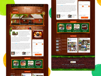 Branson Vacation Rental Cabins redesign wordpress website design web design illustration vector