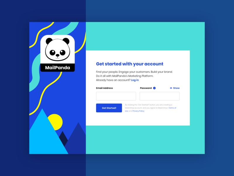 A Simple Sign Up Page webdesign web ux ui vector illustration flat sign up