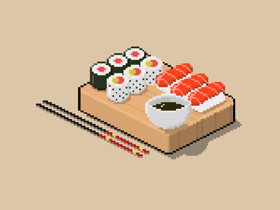 Pixel Art Japanese food