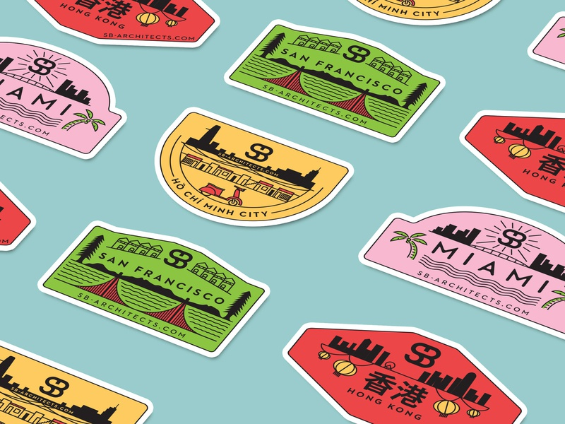 SB's Sticker Game is Strong branding type vector typography lettering illustrations hong kong ho chi minh city san francisco miami