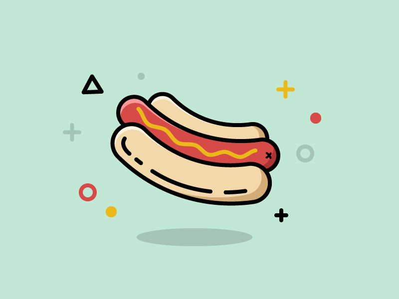 30 Minute Challenge - Food icon debut hot dog hotdog icon design iconography 30 minute challenge food icon design illustration icon