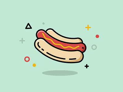 30 Minute Challenge - Food icon debut hot dog hotdog icon design iconography 30 minute challenge food icon design illustration icon