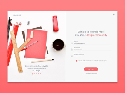 Sign Up - Daily UI #001 ux design ui up in sign modal login dailyui