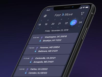 FastMove logo ios flat app vector ux ui design branding