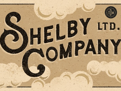 The Shelby Company (Peaky Blinders) - logo halftone design dutchman illustration texture grain halftone peaky blinders logo design vintage design vintage font logotype vintage logo vintage