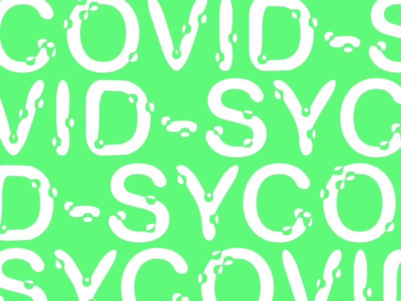 Free font for Covid-19 branding illustration graphic logo design global posters banners headlines typeface selcukyilmaz sy font free covid19 covid