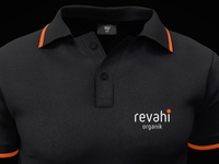 revahi organic logo and t-shirt design selcukyilmaz sy polo shirt tshirt design logo honey organic organik revahi