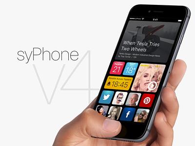 syPhone v4 sneak peek ux ui selcukyilmaz sy interface user graphic app iphone syphone