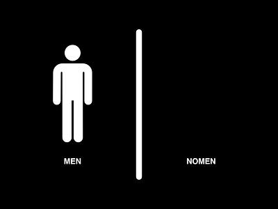 WC Sign selcukyilmaz. sy nomen men sign wc