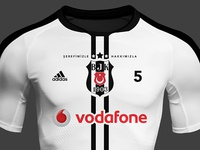 BJK Soccer Shirt Design by Selcuk Yilmaz