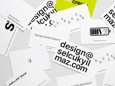 My Businesscards selcukyilmaz sy design businesscard