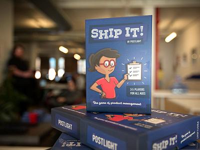 Ship It! atomic age brand design marketing design card game product management retro marketing design illustration