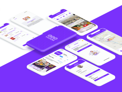 VOOOM - Delivery app logo design