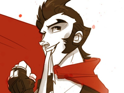 Robokilla illustration game commission red
