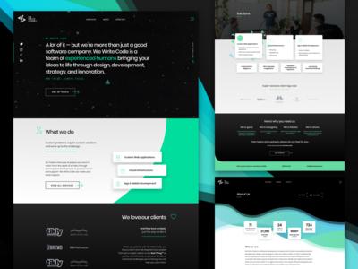 We Write Code Website Redesign