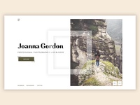 Home page for photographer