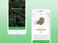 Cannabis online shop + login