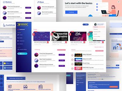 Frontline Ticketing  - Web Application homepage colorful landing page branding app design websites web design graphic design website concept modren web application design website