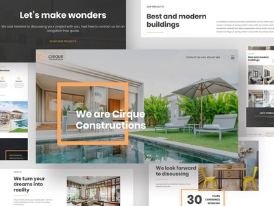 Cirque Construction branding ux logo design graphic design ui website web design