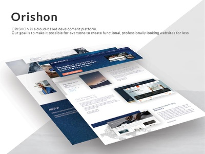 Orishon ui  ux landing page home header company web website web ui design