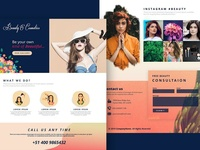 Beauty & Cosmetics ui colorful landing page web design graphic design design home website