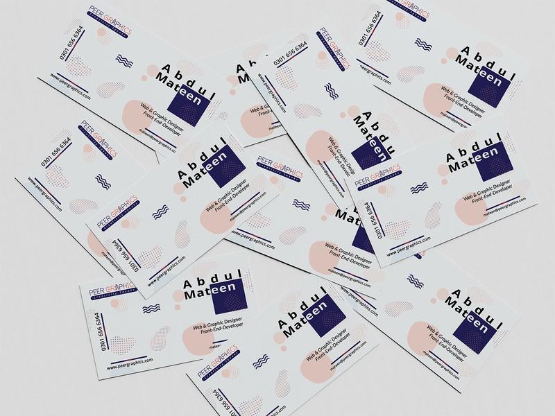 Business Card | Peer Graphics pakistan web design minimalist branding business card vector illustration colorful company logo design