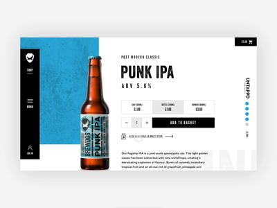 BrewDog | Product page protopie prototyping prototype interactions website web design uidesign ui design visual design layout ui design