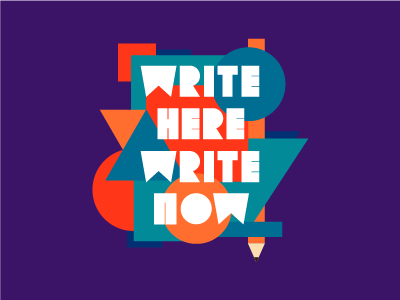 WHWN writing abstract typography