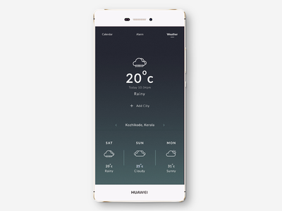 Weather App UI concept ui app simple digital product interaction weather app ux ui