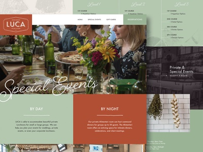 Luca Italian Kitchen Website colorful ui restaurant design website