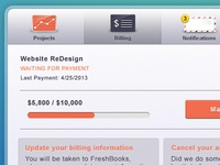 Account Profile UI | Billing Modal