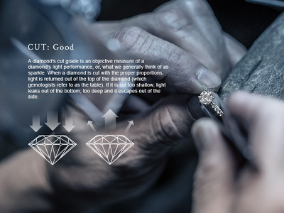 Diamond Information dynamic diamond panel details web website ecommerce page