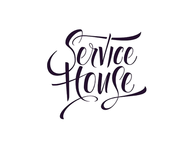 Service House Logo lettering typography vector design illustration logo