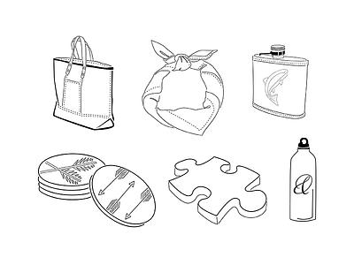 Garden & Gun Vectors black and white vector icon logo design illustration