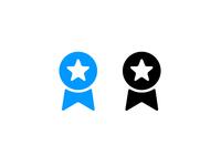 MyFonts Blue Ribbon Icon