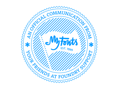 MyFonts Foundry Support Logo stamp seal badge myfonts fonts cute logo