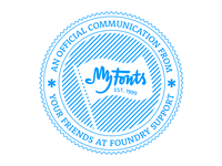 MyFonts Foundry Support Logo