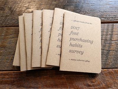 2017 Font Purchasing Habits Survey Booklet data typeface myfonts fonts classic research scout books booklet design survey