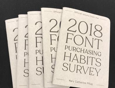 2018 Font Purchasing Habits Survey Booklet