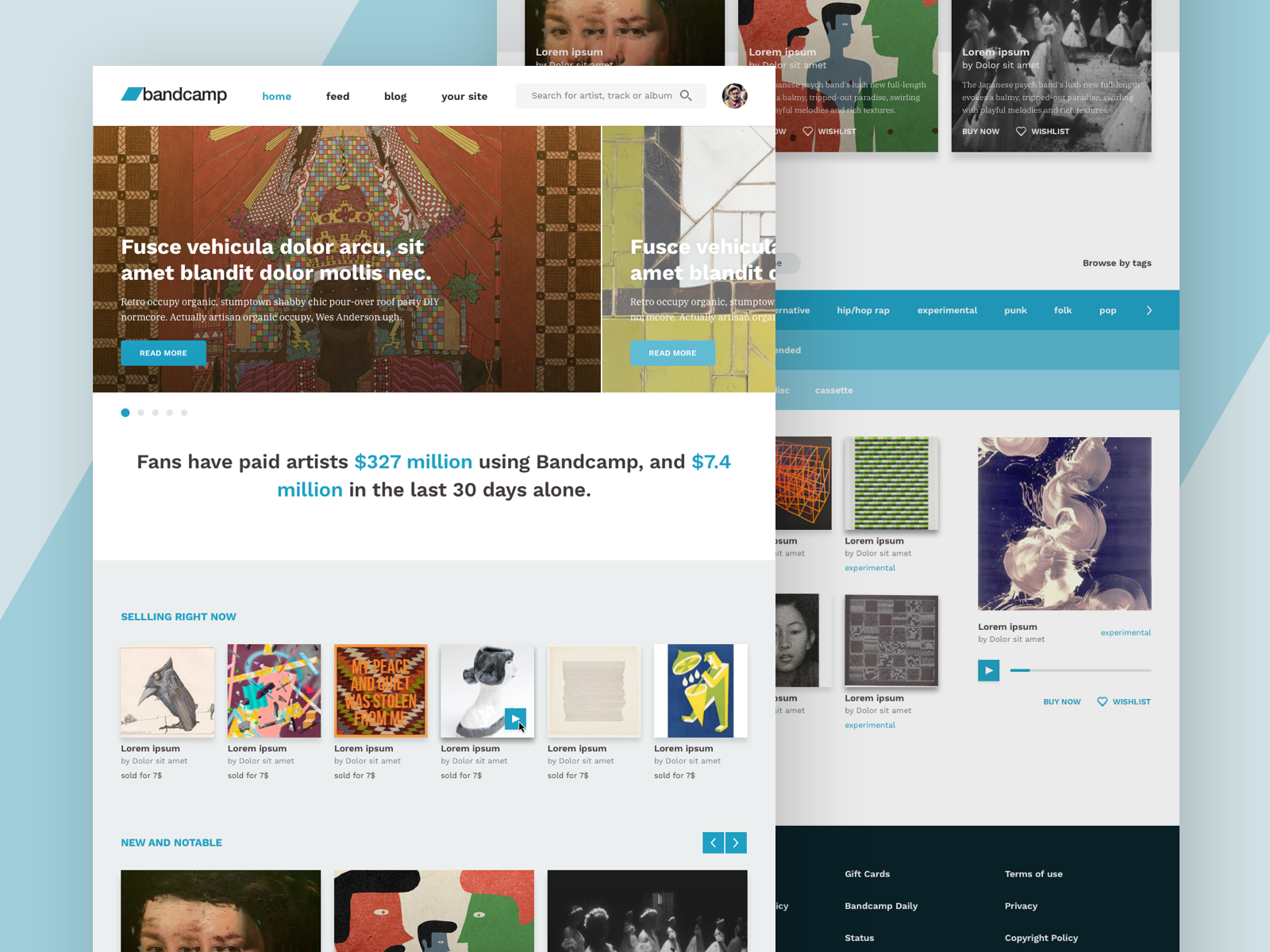Bandcamp Homepage Redesign by Rafa González on Dribbble