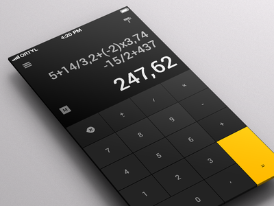 Calculator App for iOS ui interface iphone app mobile flat calculator numbers math operation count calculation