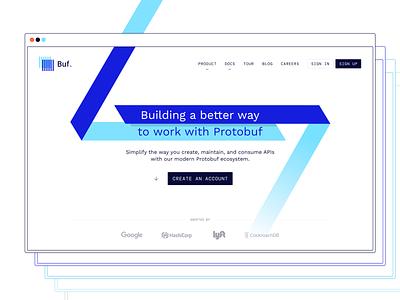 Buf – Landing Page clean high-tech minimal engeneers developers api protocol buffers protobuf buf web design product ui ux website design website lp web landing page webdesign devs