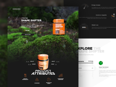 Product Page ui ux ecommerce store supplement gym bodybuilding landing product page capsules web