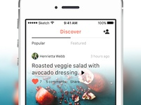 Discover Screen — Food App