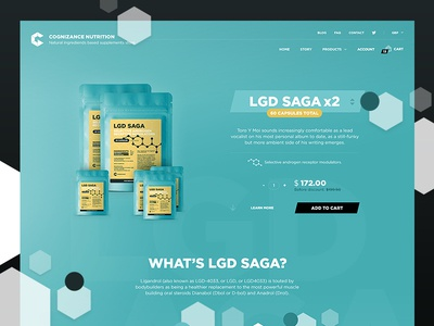 LGD Saga Product Page supplements fit fitness lp design web website page product landing ux ui