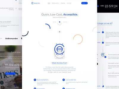 Access Coin — Landing Page website web ux ui page money lp landing page finance currency crypto coin