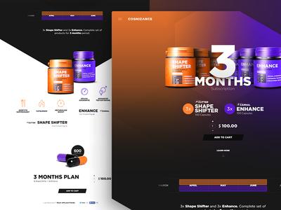 CN Subscription Page bodybuilding gradient vibrant sport gym supplements web page landing lp ux ui